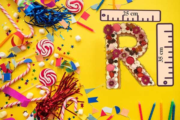 کیک حرف r