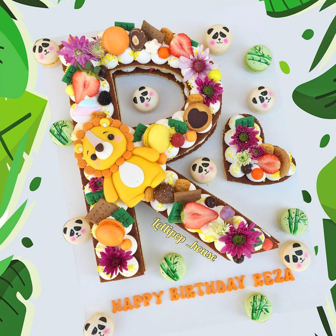 کیک حروف طرح پاندا