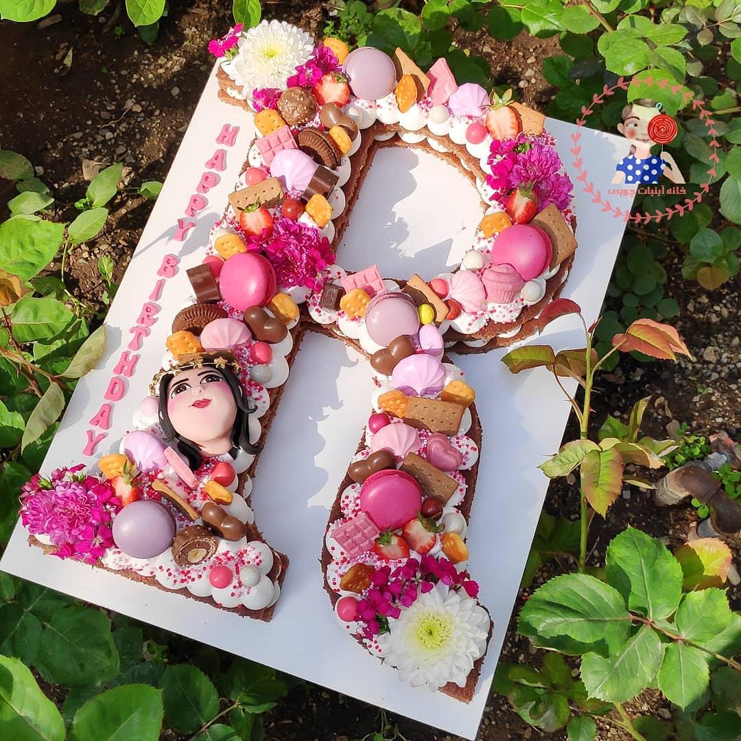 کیک حروف
