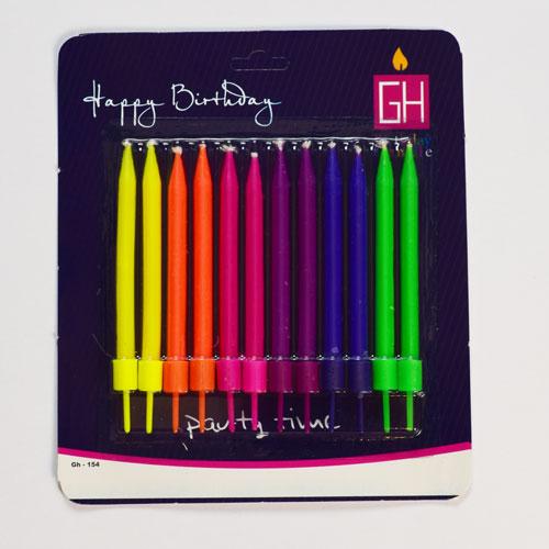 شمع مدادی رنگارنگ 12 عددی (12 هزار تومان)