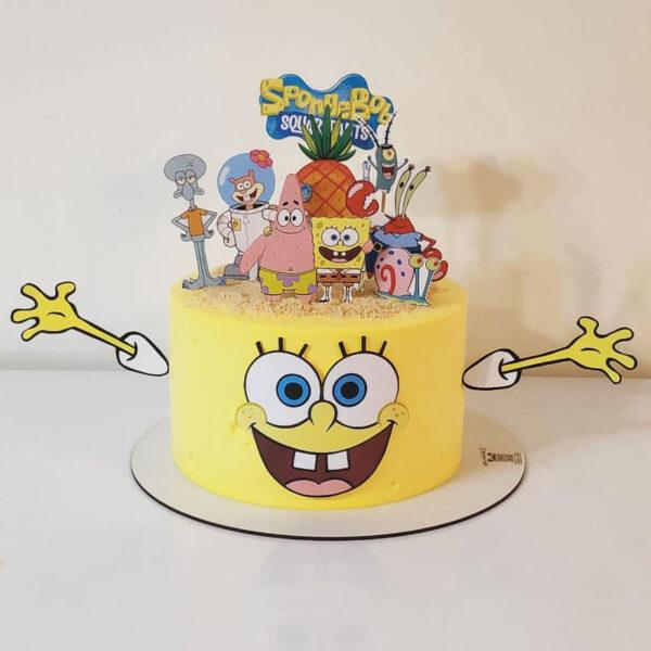 کیک تولد باب اسفنجی اجرا شده توسط خانم نگار رزاقی