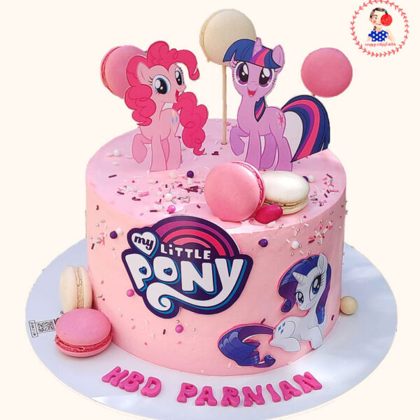 کیک تولد پونی اجرا شده توسط خانم نگار رزاقی