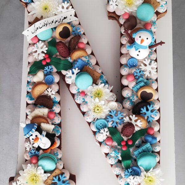 کیک تولد تم زمستانی