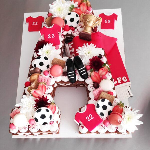 کیک حروف باشگاه لیورپول