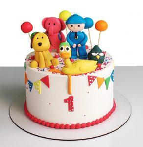 کیک خامه ای کارتون پوکویو (pocoyo)