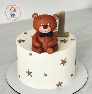 کیک خامه ای خرس مهربون