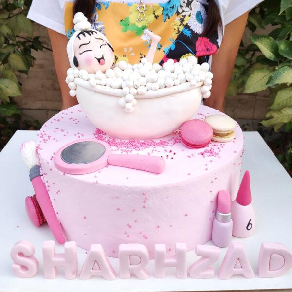 کیک دخترانه لاکچری