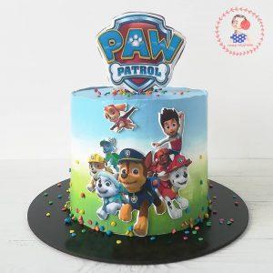 کیک خامه ای کارتون سگ های نگهبان