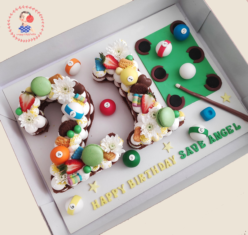 کیک عدد تم بیلیارد اجرا شده توسط نگار رزاقی
