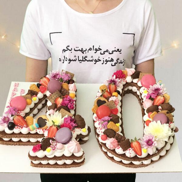 کیک تولد عدد
