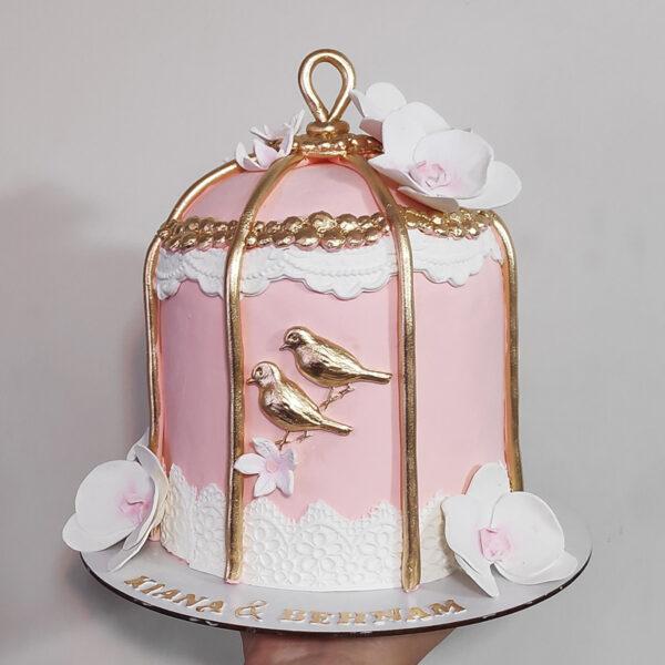 کیک تولد قفس پرنده
