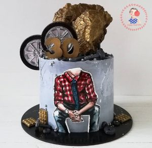 کیک خامه ای مردانه شیک