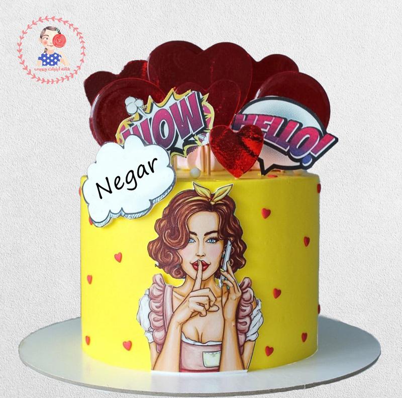 کیک زیبای پاپ آرت