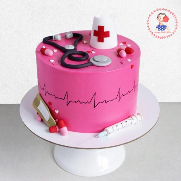 کیک تولد زیبای پرستاری