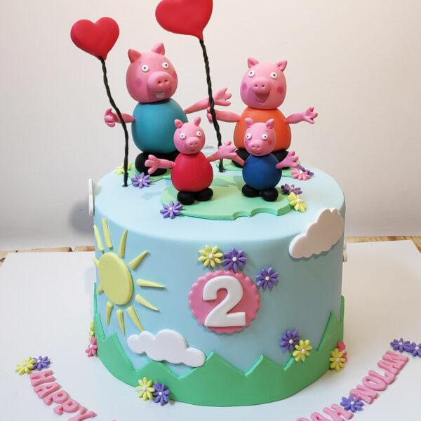کیک تولد زیبای پاپا پینک اجرا شده توسط نگار رزاقی