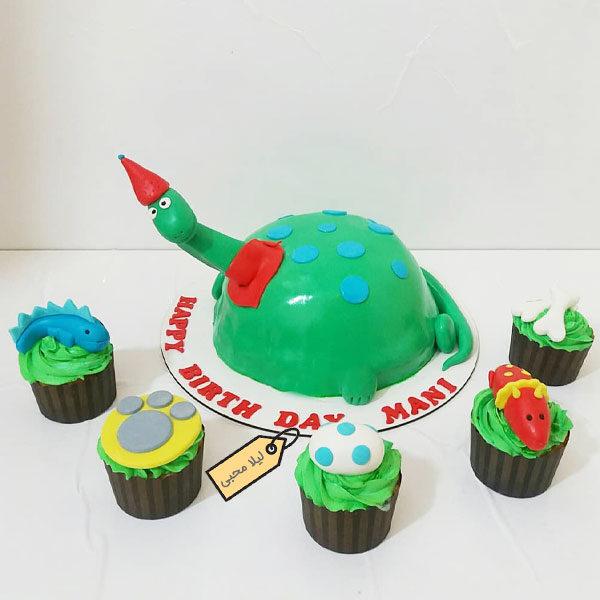 کیک فوندانت دایناسور
