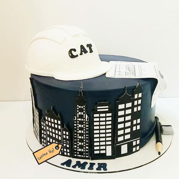 کیک فوندانت مهندس ساختمان