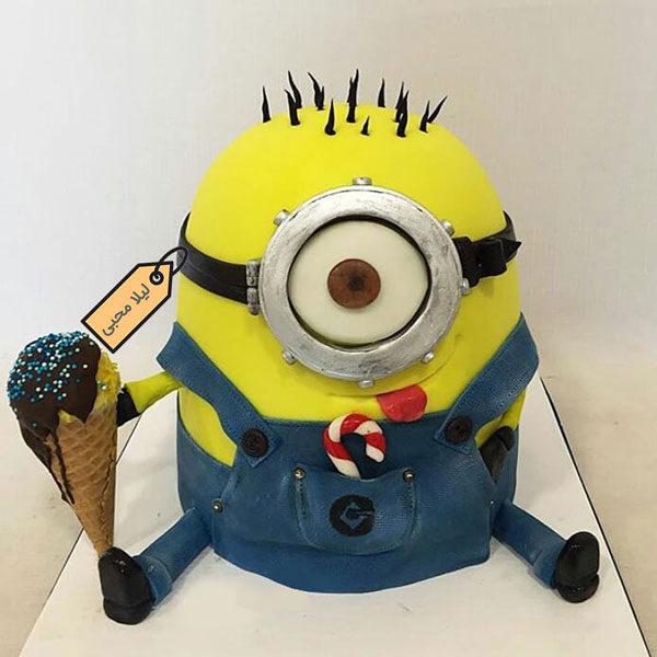 کیک فوندانت مینیون