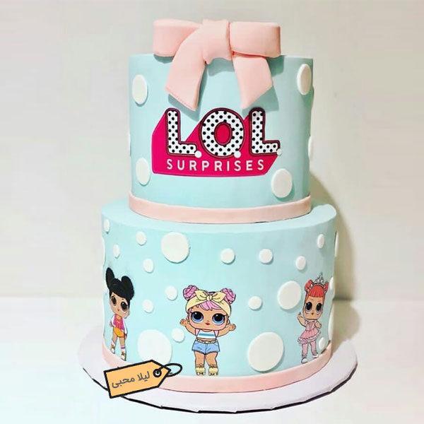 کیک کارتون lol