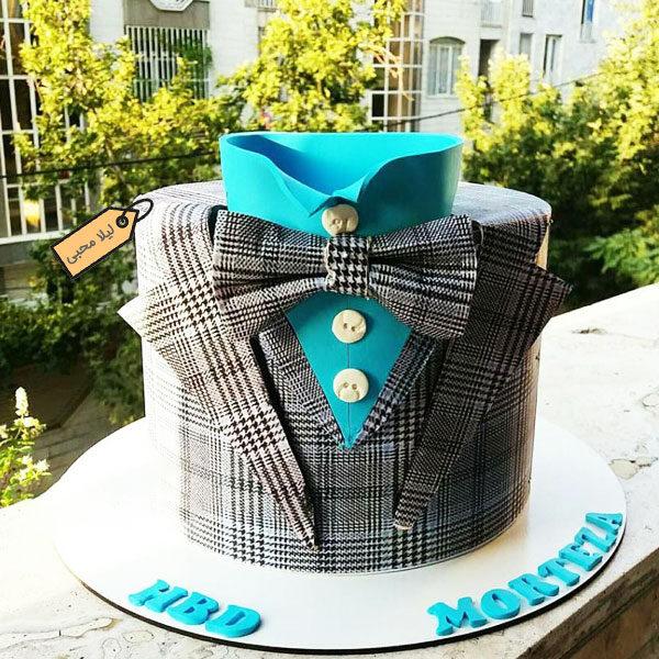 کیک فوندانت پیراهن و کت