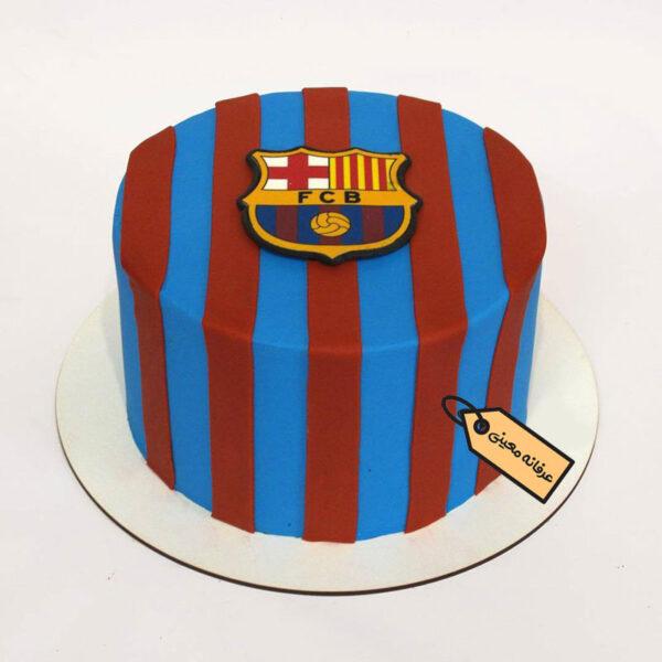 کیک فوندانت بارسلونا