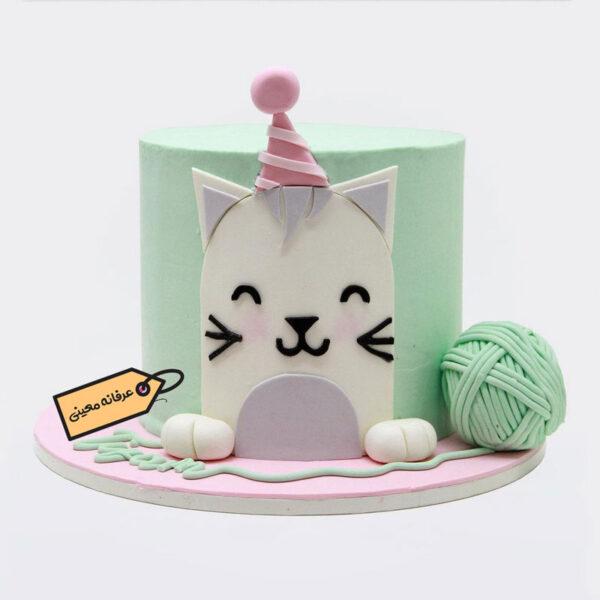 کیک تولد گربه زیبا