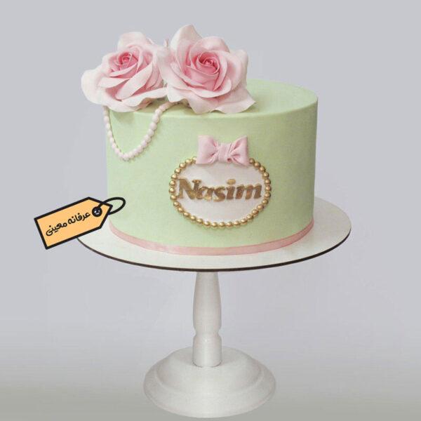 کیک زیبای گل رز