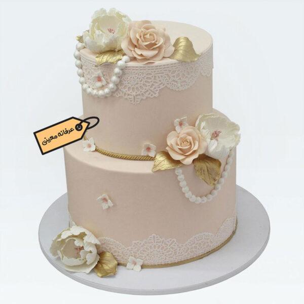 کیک سالگرد ازدواج با گل های رز