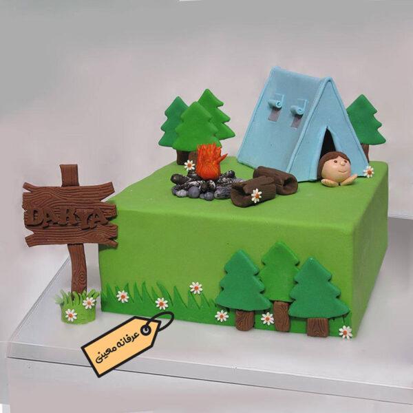 کیک طبیعت گردی (کمپینگ)
