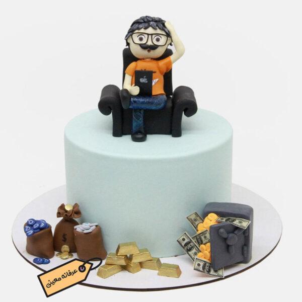 کیک تولد ارز های دیجیتال خانم معینی