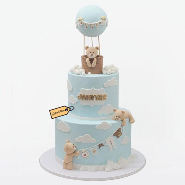 کیک خرسی با بالن اجرا توسط خانم معینی