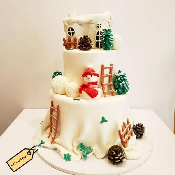 کیک برفی قناد مریم ادیب زاده