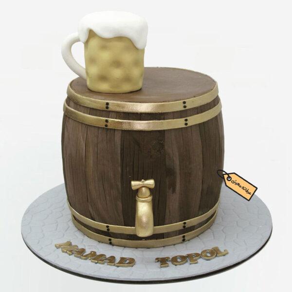 کیک بشکه اجرا شده توسط خانم معینی