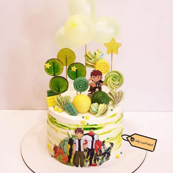 کیک بن تن خامه ای مریم ادیب زاده