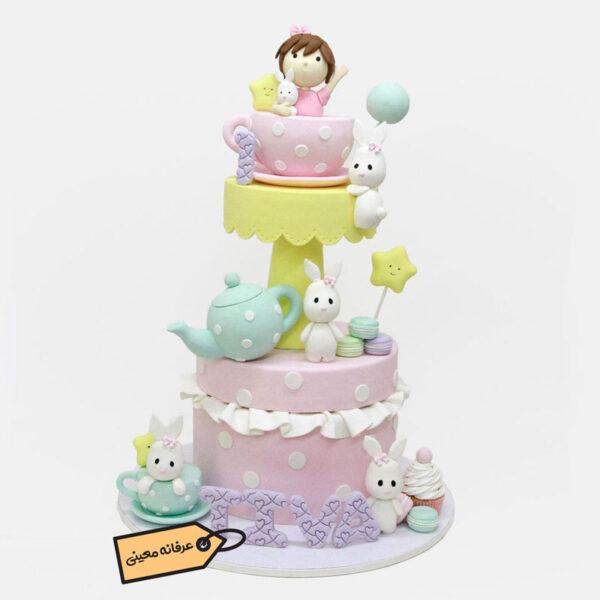 کیک بچه گانه دخترانه