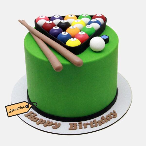 کیک بیلیارد زیبا اجرا شده توسط خانم معینی