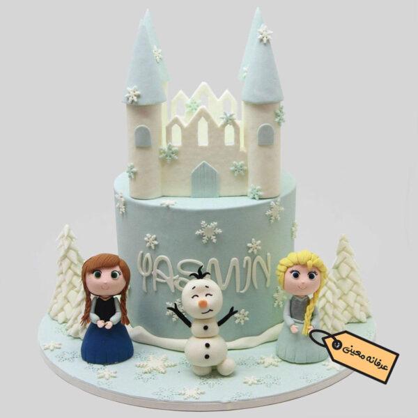 کیک زیبای آنا و السا اثر هنرمند عرفانه معینی هنرمند خوب کشورمان