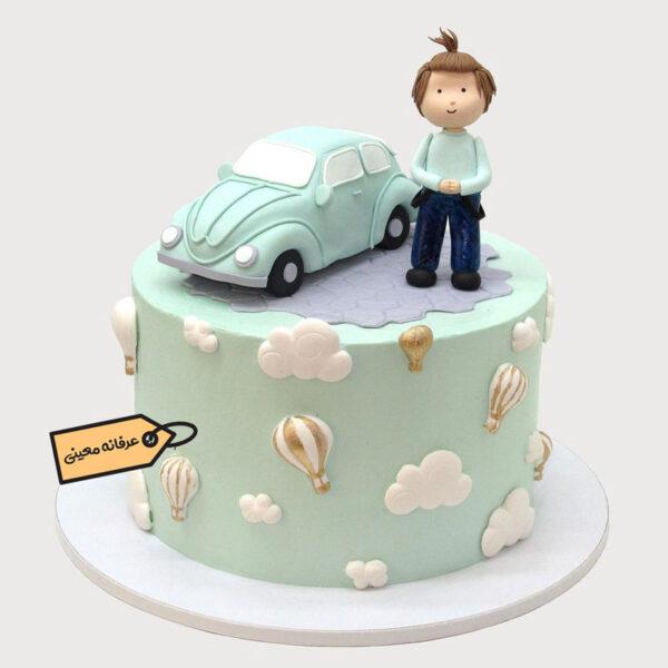 کیک تولد مرد و فولکس خانم عرفانه معینی