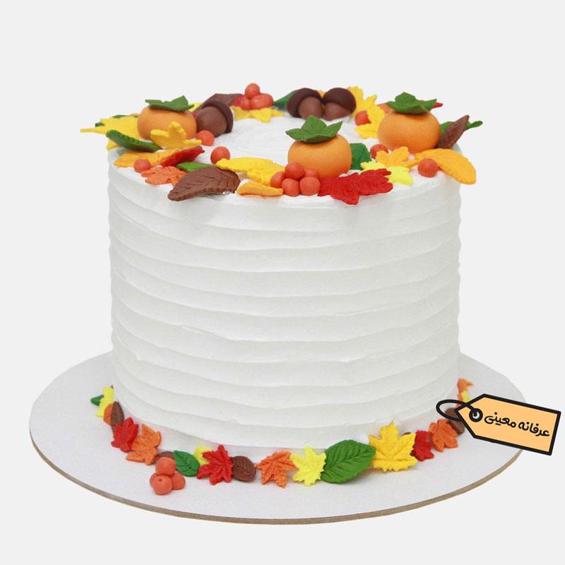 کیک تولد پاییزی خانم عرفانه معینی