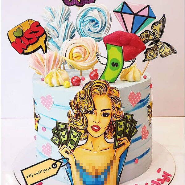 کیک پاپ آرت دخترانه جذاب مریم ادیب زاده