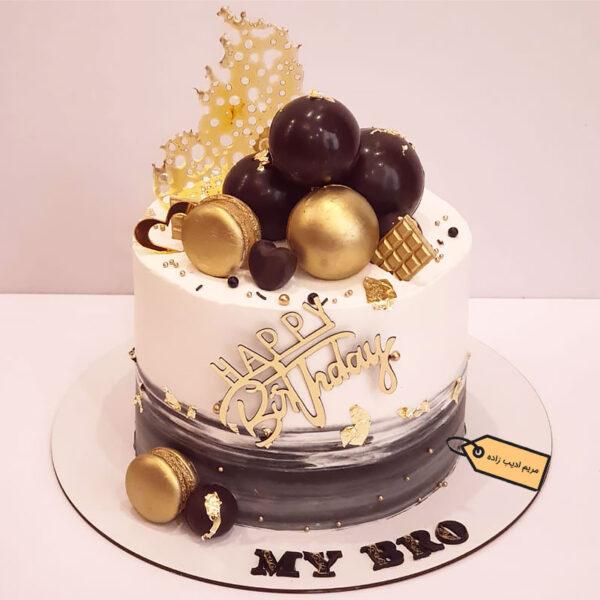 کیک خامه ای مدرن مریم ادیب زاده