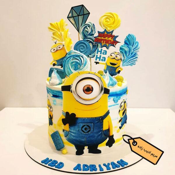 کیک مینیون تصویری مریم ادیب زاده