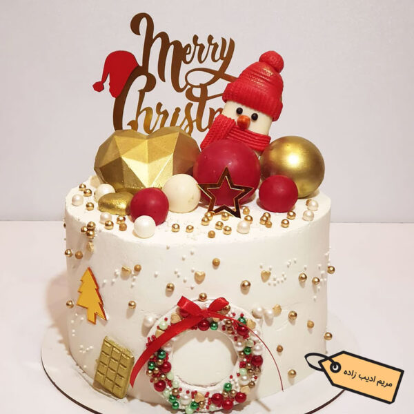 کیک خامه ای کریسمس قناد مریم ادیب زاده