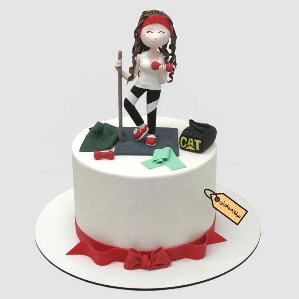 کیک دخترانه ورزشکاری اجرا خانم معینی