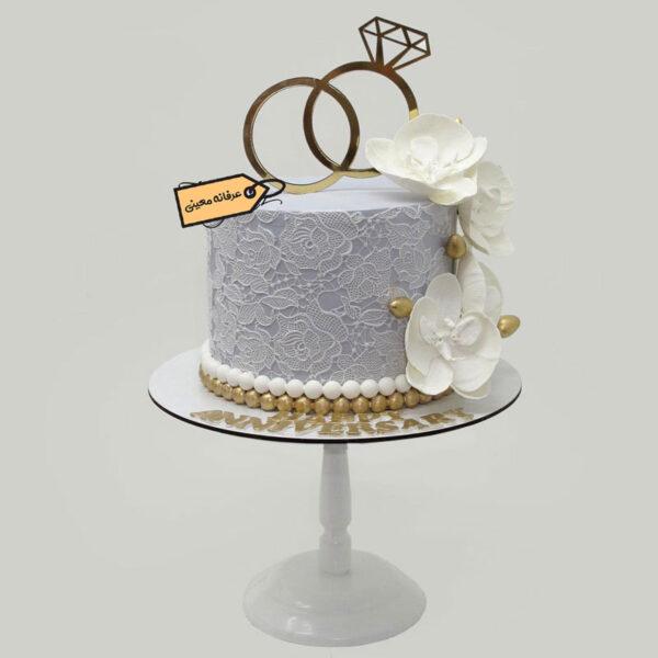 کیک سالگرد ازدواج حلقه