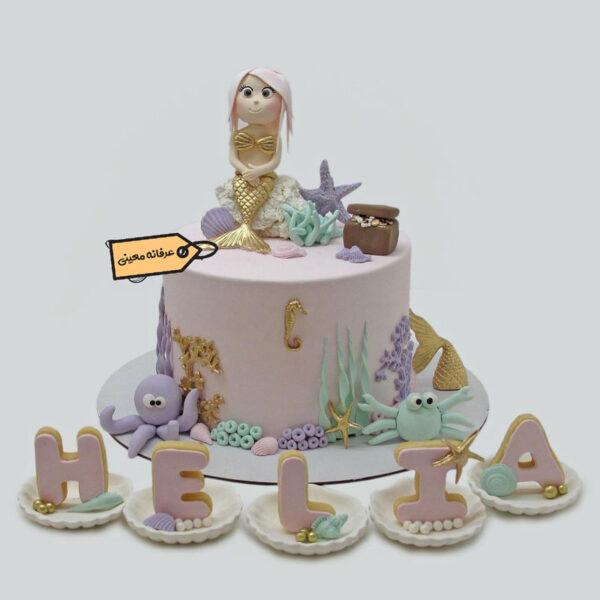 کیک پری دریایی خوشگل قناد معینی