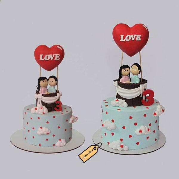 کیک زیبای love خانم معینی