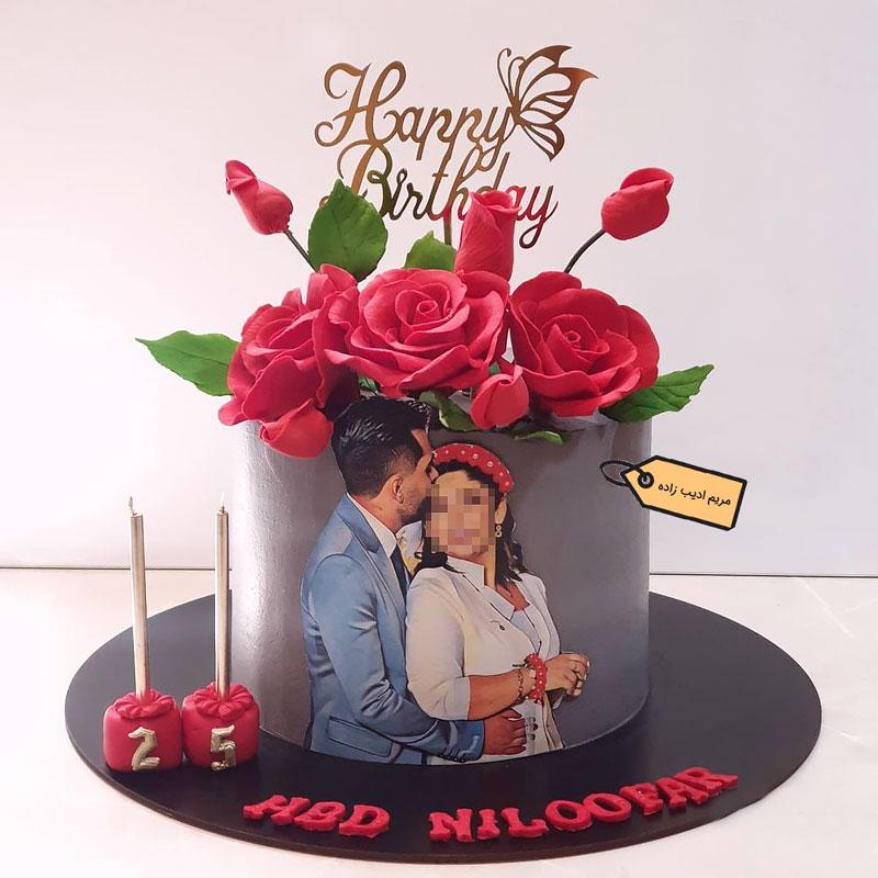 کیک عشقولانه گل رز مریم ادیب زاده