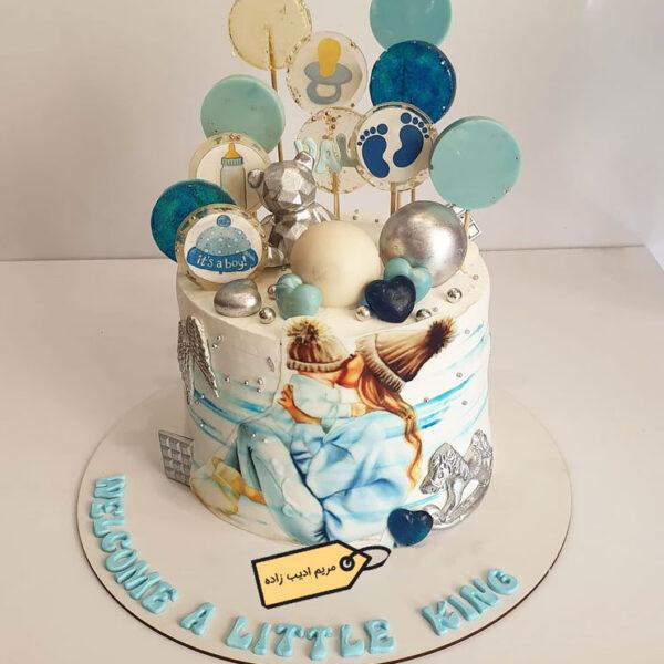 کیک مامان شدن مریم ادیب زاده