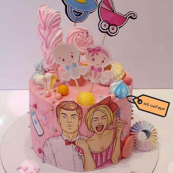 کیک پاپ آرت خیر باردار شدن مریم ادیب زاده